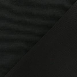 Tissu jersey 500 raies - noir x 10cm