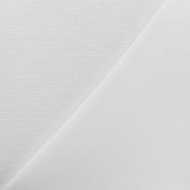 Tissu jersey 500 raies - blanc x 10cm