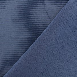 500 Rays Jersey fabric - grey blue x 10cm