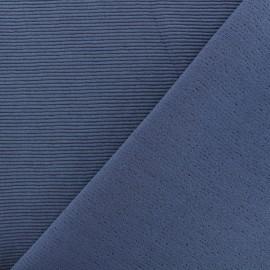 Tissu jersey 500 raies - bleu gris x 10cm