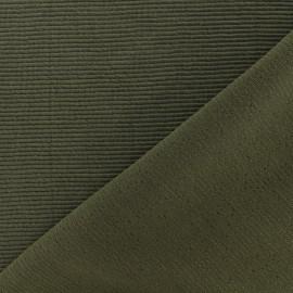 Tissu jersey 500 raies - kaki x 10cm