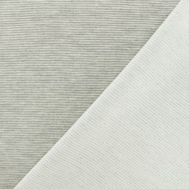 ♥ Coupon 40 cm X 150 cm ♥ 500 Rays Jersey fabric - light grey