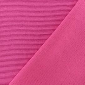 Tissu jersey 500 raies - rose x 10cm