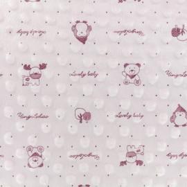 Minkee velvet fabric dot - Pink Lovely baby x 10cm