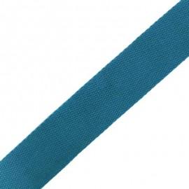 Sangle Coton - Bleu Canard x 1m