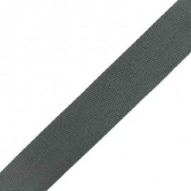 Sangle Coton - Gris x 1m