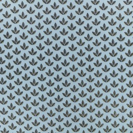 Polyester satin fabric Pearl Peach by Penelope® - blue x 10cm