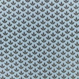 Tissu coton popeline satinée Pearl Peach by Penelope® - bleu x 10cm