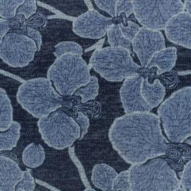 Tissu jersey maille Layla - Gris x 10cm
