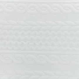 Twisted knitted Jersey fabric - white x 10cm