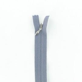 Fermeture Eclair® Invisible - Jeans Bleu/Blanc