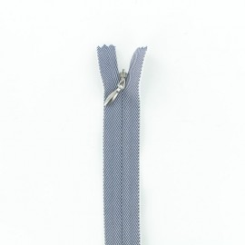 Invisible Zipper - Jeans Blue/White