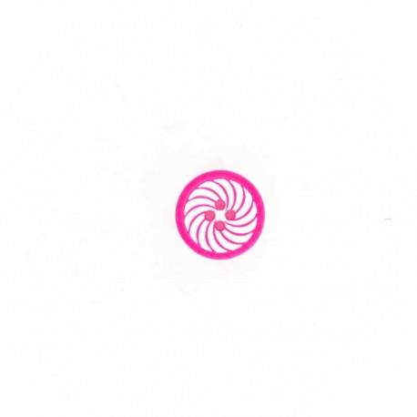 Bouton Polyester Hypnotic Candy - Fuchsia