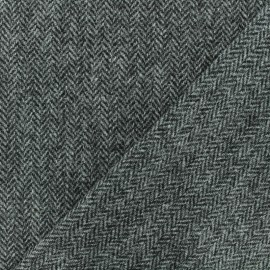 Wool fabric - Brown Cambridge x 10cm