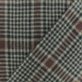 Tissu drap de manteau Birmingham - Noir/beige x 10cm