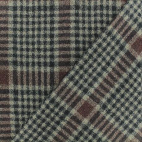 Wool fabric - Black/beige Birmingham x 10cm