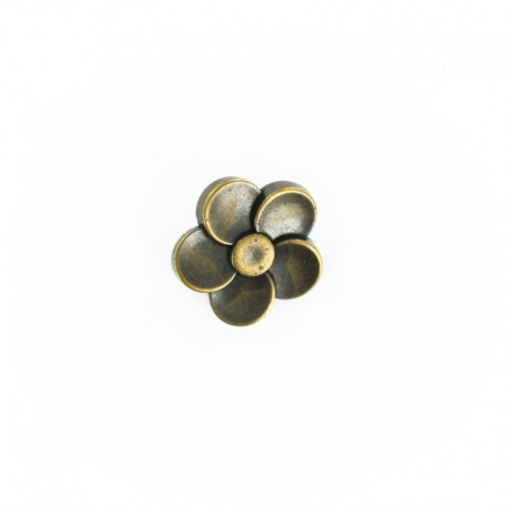Metal Look Polyester Button - Ancient Bronze Hélicea