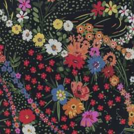 Tissu Viscose Flavia - noir x 10cm