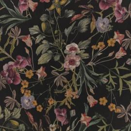 Viscose Fabric - Black Flavia x 10cm