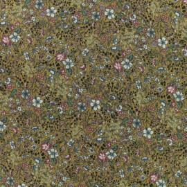 Tissu viscose sergé Felicita - moutarde x 10 cm