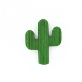 Bouton Polyester Cactus 40 mm - Vert