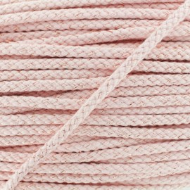 8 mm Lurex Braided Cord - Pink x 1m