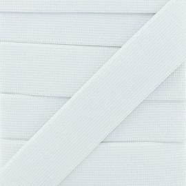 Woven Flat Elastic 30 mm - White x 1m