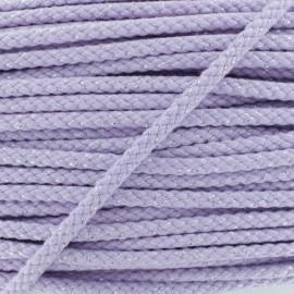 8 mm Lurex Braided Cord - Lavender x 1m