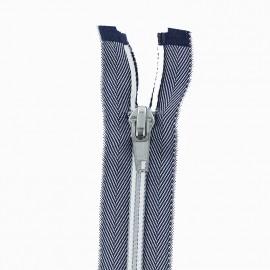 Fermeture Eclair® Séparable - Jeans Bleu/Blanc