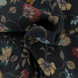 Viscose crepe fabric - black Alessandra x 10cm