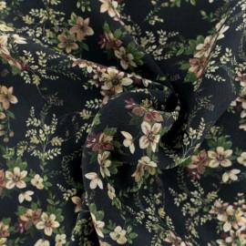 ♥ Coupon tissu 30 cm X 130 cm ♥ Viscose crêpé Paola - Noir