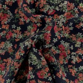 Tissu Viscose crêpé Paolina - Noir x 10cm