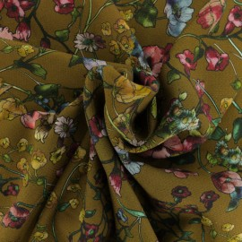 Tissu Viscose crêpé piqué Bianca - vert olive x 10cm