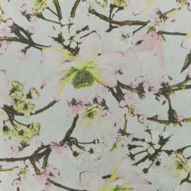 Suede elastane fabric - grey Magnolia x 10cm