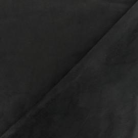 Suede Neoprene Scuba fabric - black x 10cm
