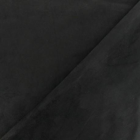Tissu Suédine élasthanne Aspect daim - noir x 10cm