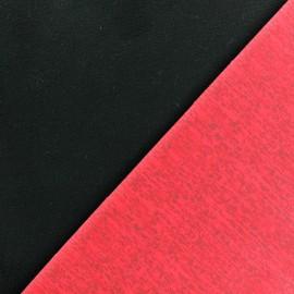 Tissu Softshell - Rose fluo/noir x 10cm