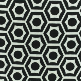Heavy Crepe fabric - black/white x 10cm