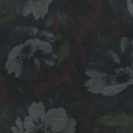 Milano jersey fabric - black Rebecca x 10cm