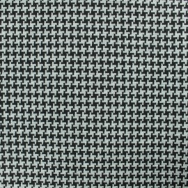 Reversible Milano jersey fabric - black/grey x 10cm