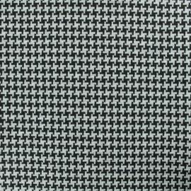 Tissu Jersey Milano réversible - noir/gris x 10cm