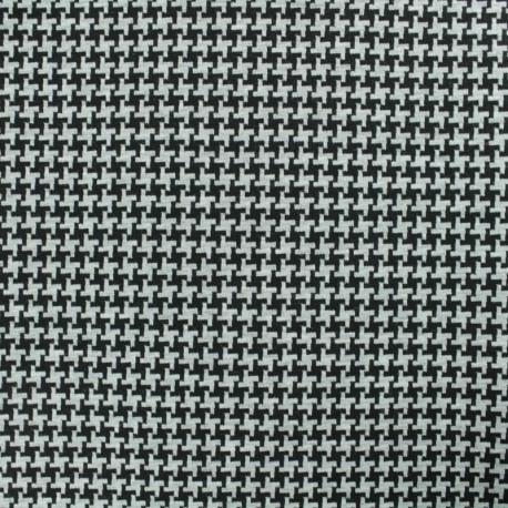 Reversible Milano jersey fabric - black/grey x 10cm