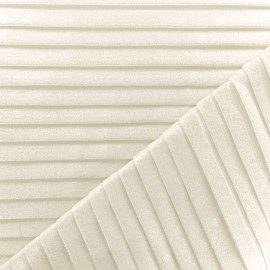Polyester Pleated fabric - Glittery white x 10cm