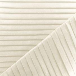 Tissu polyester plissé Evangeline -  blanc pailleté x 10cm