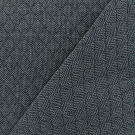 Quilted fabric single-sided - Blue Antalya x 10cm