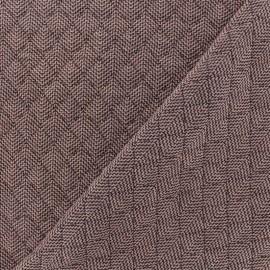 Tissu matelassé simple face Antalya - Vieux Rose x10cm