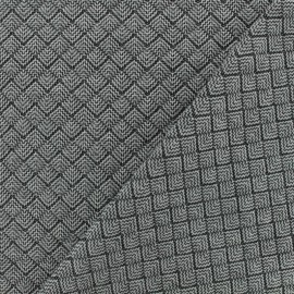Quilted fabric single-sided - light Grey Little Antalya x 10cm