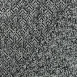 ♥ Coupon 10 cm X 160 cm ♥  Tissu jacquard matelassé Izmir -noir/blanc