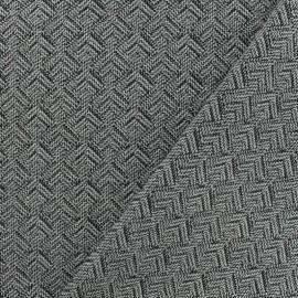 Tissu jacquard matelassé Izmir -noir/blanc x10cm