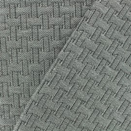 Jacquard Quilted fabric - Black/white Ankara x 10cm
